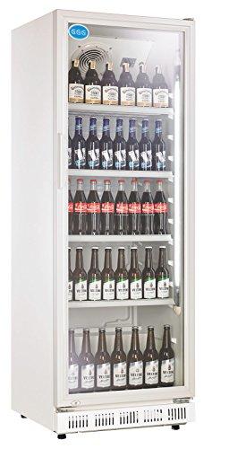 wDesigns Gastro Flaschenkühlschrank Glastür 360 Liter 620x635x1732mm weiß