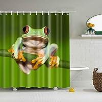 植物、花動物の馬フラミンゴ印刷バスポリエステルシャワーカーテン北欧の防水バスカーテン家の装飾180X180CM(71X71IN)