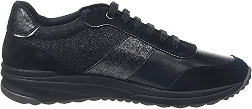 Geox D AIRELL A, Zapatillas Mujer, Negro Black C9999