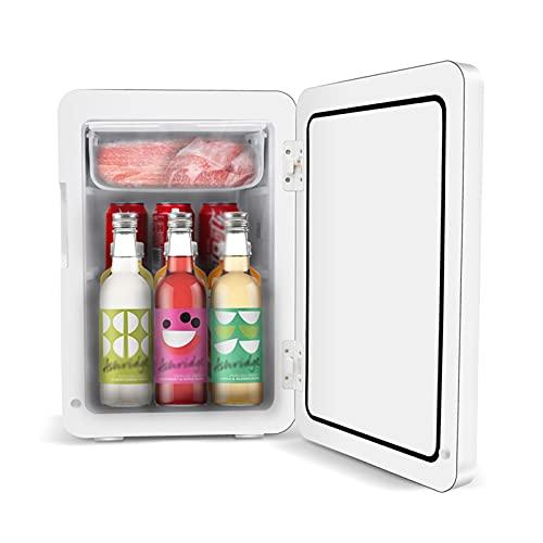 Mini Frigo Frigorifero con congelatore Mini 22L, Frigorifero per Auto per la casa con AD CD. Alimentazione, per Camera da Letto, Ufficio, Campeggio, Viaggi (Color : 110V)