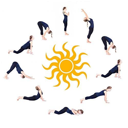 """Wallmonkeys FOT-33252541-30 WM208888 Steps of Yoga Surya Namaskar Sun Salutation Peel and Stick Wall Decals H x 30 in W, 30"""" 30"""" W-Medium-Large"""