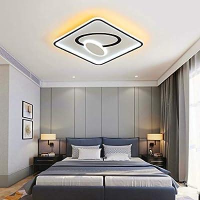 Rectangular Creativity ceiling light,LED modern minimalist lamps for living room,Creative geometry ceiling lamp,3200-6500K Silica gel smart dimming ceiling lamp,living room,bedroom,office,40CM/44W