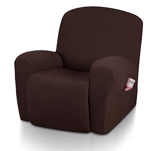TOPONW Jacquard Relaxsessel Bezug Stretch Ruhesessel Bezug Wasserdicht 1 Stück Elastischer Antirutsch Husse Relaxsessel Grau Stretchhusse Weich Stoff Fernsehsessel Bezug Sesselbezug Relaxsessel