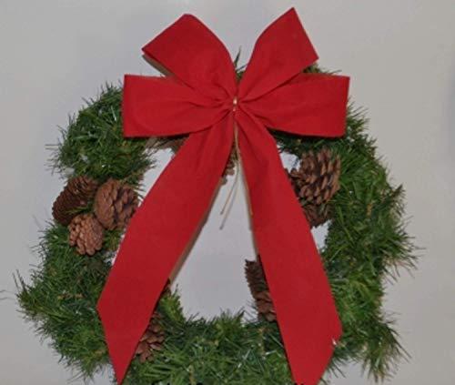 4 Stück - Adventsdekoration, Weihnachtsschleife, Fertigschleife