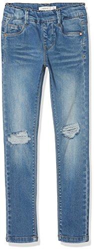 NAME IT NAME IT Mädchen NKFPOLLY DNMTORA 2077 Legging NOOS Jeans, Blau (Medium Blue Denim Medium Blue Denim), 92