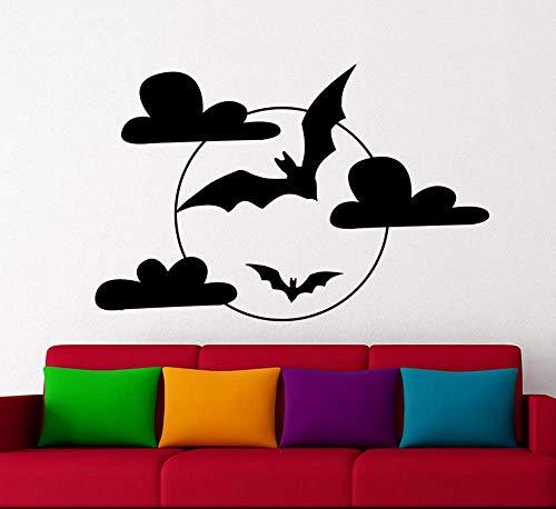 Flying Bat Vinilo Calcomanía Ventana Sala De Estar Sofá Fondo Decoración Del Hogar Mural 85X56Cm