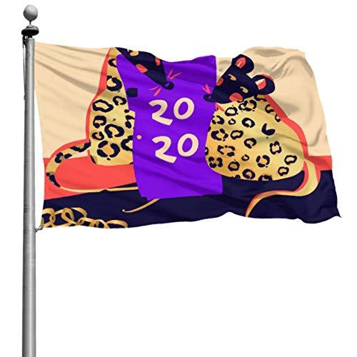 YANXIE Flaggen für die Dekoration Zwölf Sternzeichen Charakteristische Ratten Dekorativer Hof Fahnenhalter Fahnendruck 90x150 cm (3x5 Ft) Polyester mit Ösen Dekorationen Innen/Außen