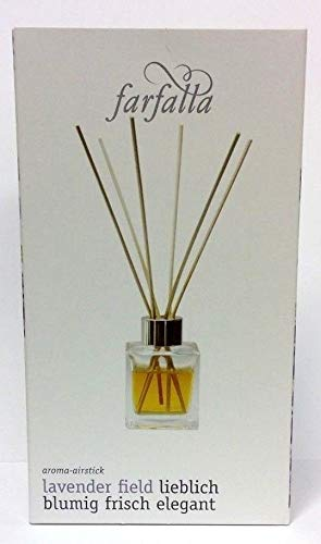 Farfalla Aroma Airstick Set Lavender Field Raumduft 100 ml + Vase + Duftstäbchen