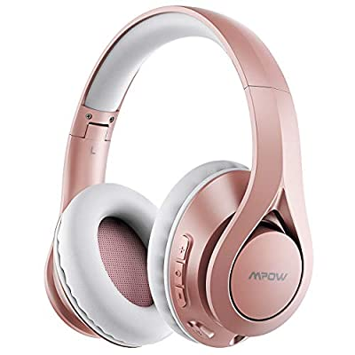 Mpow 60Hrs Wireless Over Ear Headphones, Bluetooth 5.0 and Wired Mode, HiFi Stereo Foldable Bluetooth Headset with Soft Memory Foam Earmuffs, CVC6.0 Mic for Work Travel Online Class Phone PC TV from Mpow