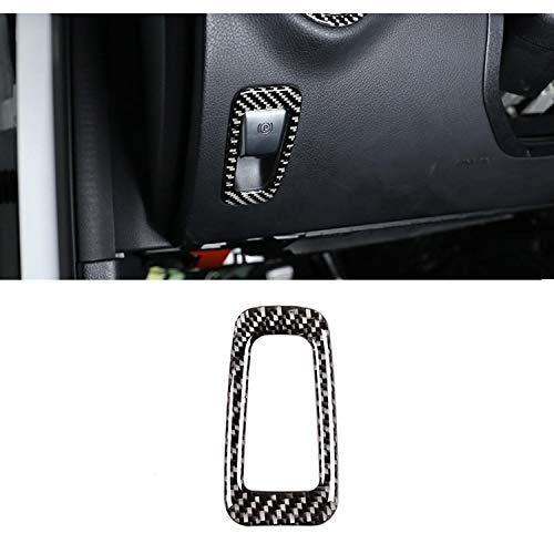YKANZS Marco de Freno de Mano electrónico para Coche, embellecedor de Fibra de Carbono, para Mercedes Benz Clase C W205 GLC Clase X253 2015-2019, Accesorio de Pegatinas