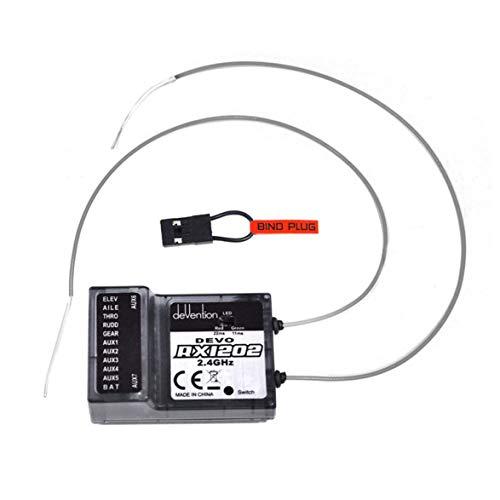 Heaviesk Walkera Devention Empfänger RX1202 2,4 GHz 12 Kanal / 12CH für DEVO 12S compatiable mit DEVO F12E Transmitter RC Drone