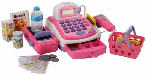 My cash register - 261780 Kasse pink Scannerkasse für Kaufladen viel Zubehör
