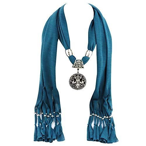 ALIKEEY halsdoeken dames hanger sjaal met kwast strass sieraden sjaals 180 * 40cm