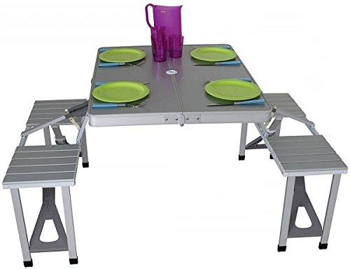 Eurotrail picknicktafel Limoux zilver verkoop door Holly producten STABIELO -
