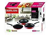 Nirlon 3-Piece Aluminium Non Stick Non Induction Cookware Gift Set