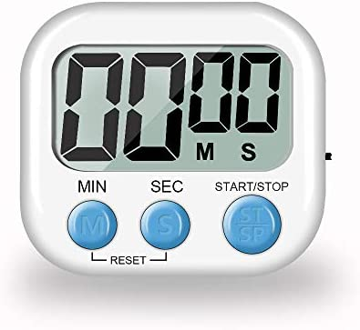Biramba Digital Kitchen Timer Magnetic Countdown Up Cooking Timer Clock with Magnet Back and product image