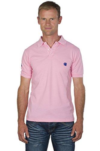 UGHOLIN Polo Regular Fit Coton Piqué Broderie Contrastée Cane Corso Manches Courtes Homme L Rose