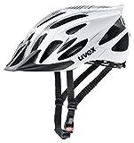 Uvex 4109660215 Casco Ciclismo MTB, Unisex Adulto, Blanco/Negro, M