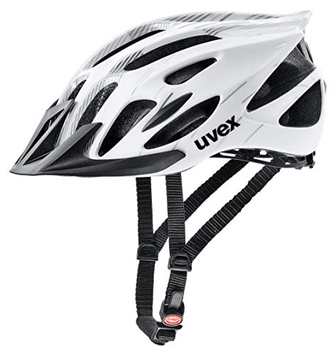 uvex Unisex– Erwachsene, flash Fahrradhelm, white black, 57-61 cm