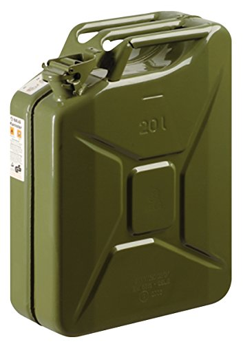 GELG - Garrafón De Metal 20 Litros, Color Verde Caqui