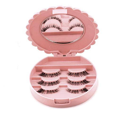 Ruluti 1pc Nueva Acrílico Falso Maquillaje De Pestañas Caja De Almacenaje del Espejo Cosmético del Organizador del Caso Maquillaje Herramienta