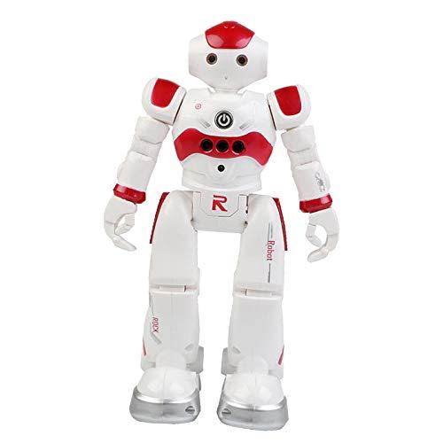 FITYLE Robot Juguete Regalos para niños-RC Control de Gestos Robot programable con Controlador infrarrojo y Ojos LED, Regalo de cumpleaños para niños - Rojo orzuelo un