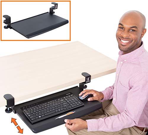 Stand Steady Clamp On Keyboard Tray   Keyboard Shelf - Small Size...
