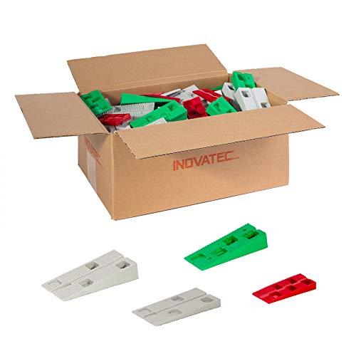 90 x Inovatec Kunststoff Keile, vier verschiedene Größen 64-90 x 28-45 x 9-20 mm