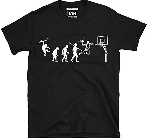 6TN Evolution of Basket T Shirt - Nero, XX-Large