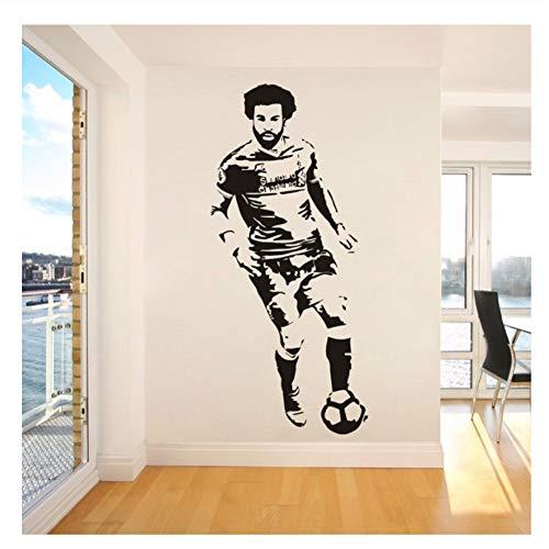 Mohamed Salah Ägypten Fußball Wandaufkleber Wandhauptdekor Wohnzimmer Dekoration Liverpool Kinder Schlafzimmer Aufkleber Kunst Poster57x126 cm