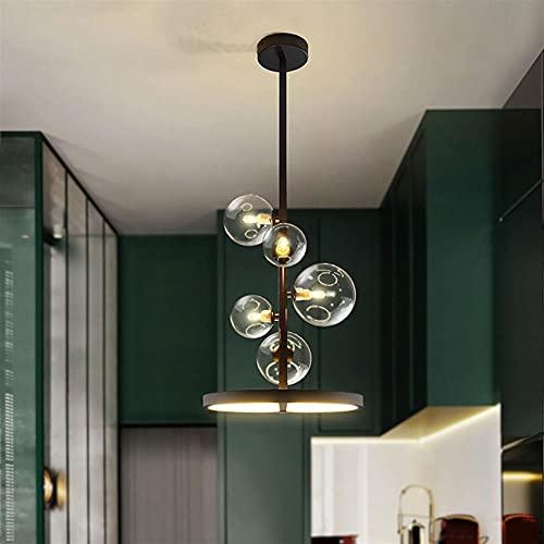 GXC LED Araña LED 3000K Restaurante Nórdico Luces Colgantes, G9 Fuente De Luz Lámpara De Vidrio Simple Sala De Estar Estudio Iluminación Colgante Luz (Color : 79cm*28cm)