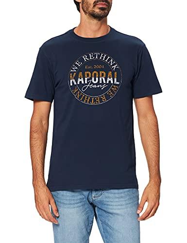 Kaporal Round T-Shirt, Navy, XL Homme