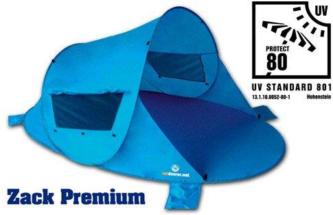 outdoorer Pop up Strandmuschel zum Verschließen Zack Premium Family - UV 80