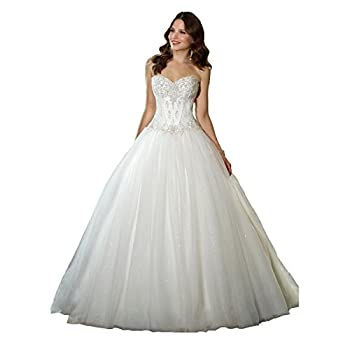 white ballroom dress