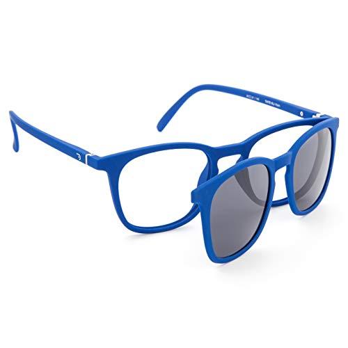 DIDINSKY Gafas de Presbicia con Filtro Anti Luz Azul con Capa de Sol. Gafas Clip on Imantadas para Hombre y Mujer. Tacto Goma y Cristales Anti-reflejantes. Klein 0.0 – TATE CLIP ON