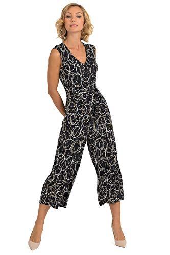Joseph Ribkoff Black Beige & Silver Jumpsuit Style - 193686 Fall 2019 Hot Styles