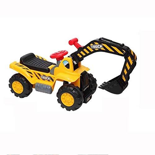Kedorle Música Suena Digger Scooter Tractor Toys Bulldozer Incluye Casco con Rocas - Paseo en Tractor Pretend Play Toy Tractor Tractor Truck Juguete
