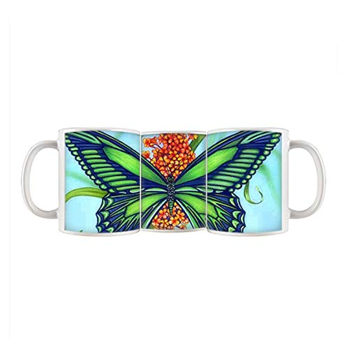 Babu Building Sopra China Cup Ceramica Per Ragazza Bellissimo Stampa Butterfly 2