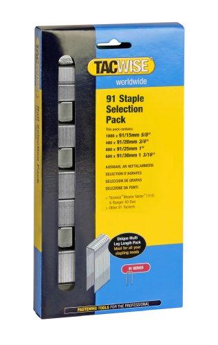 Tacwise 0204 Heftklammern Typ 91 Auswahlspackung (15-30mm)