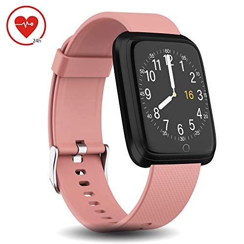 DoSmarter Fitness Tracker Waterproof for Woman Man, All-Day Activity Tracker Pedometer Watch with Heart Rate Monitor, Step Counter, Sleep Monitor, Calorie Counter Compatible with iOS & Android Phone