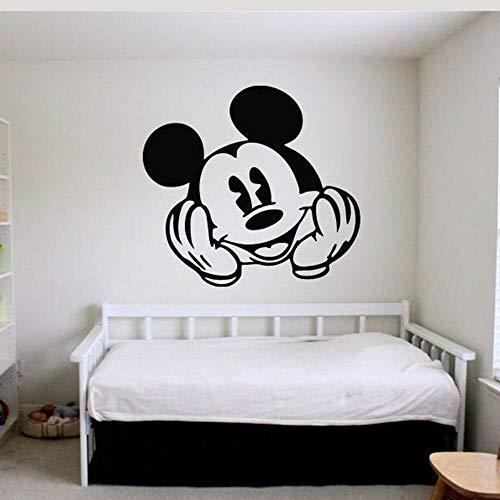 Animales de dibujos animados ratón tatuajes de pared sala de estar decoración del hogar pegatinas de pared cara linda decoración de la pared pegatinas de puerta de ventana