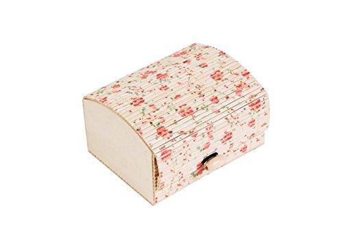 DISOK - Baúl Estampado Floral - Cajas para Detalles de Bodas - Cajitas, Estuches, Cajas Baratas para pañuelos y Recuer