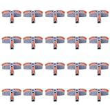 Conector de cable de 20 piezas, 1 en 4 salidas Conductor divisor tipo empuje SPL Conector rápido Conector de cable T Bloque de terminales Piezas eléctricas Mejoras para el hogar(gris)
