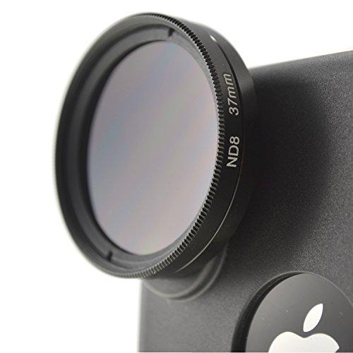 System-S Vario Graufilter Neutraldichtefilter ND-Filter ND2-400 37mm Linse Objektiv für iPhone X