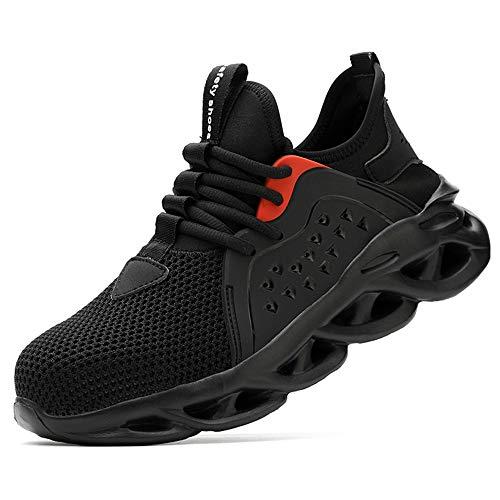 [マンディー] 安全靴 作業靴 メッシュ スニーカー メンズ レディース 超通気 鋼先芯(JIS H級相当) セーフティーシューズ 軽量 おしゃれ 防滑 夏場対応 サンダルタイプ 8088/M/ブラック/44
