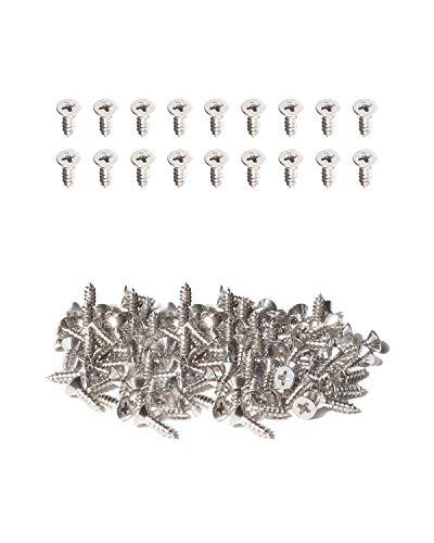 IMScrews, 100 tornillos autoperforantes de acero inoxidable de cabeza plana de 9,5 mm, 18-8 (304)