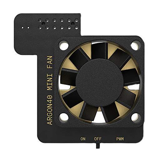GEEKEN para Pi 4B 3B + 3B PWN RegulacióN de Velocidad CPU Ventilador de RefrigeracióN Radiador con Interruptor para Raspbian