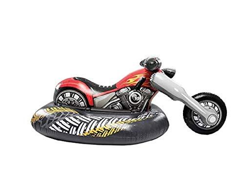 Motorrad - Bike - Aufblastier aufblasbare Reittier Schwimmtier Badeinsel Luftmatratze Schwimmliege Wasserspielzeug Spielzeug für Pool Planschbecken Kinderpool See Meer Fluß ideal für Kinder