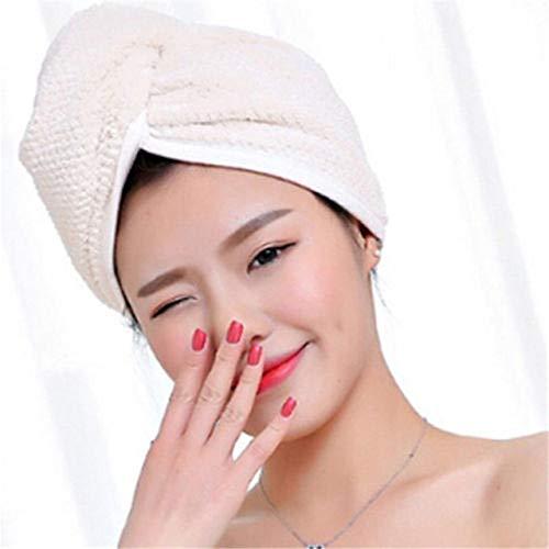 Toalla de baño de Microfibra de Secado rápido para el Cabello para Mujer, Turbante con Nudo Giratorio, Gorro de Abrigo para Accesorios de baño, Beige