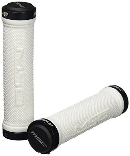 MSC Bikes MSC 130 mm - Puños blocantes y arandela de ciclismo, color blanco / negro